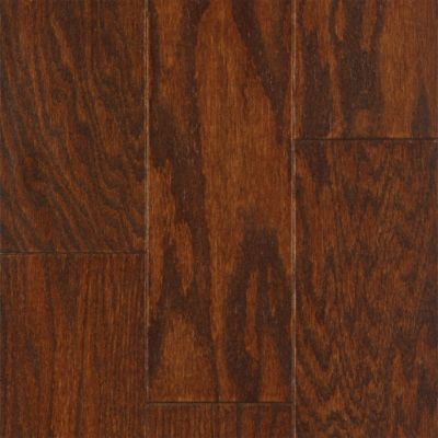 "3/8"" x 4-3/4"" Mocha Red Oak Quick Clic Engineered"